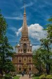 Pagode in Wat Chalong oder im Chaitharam Tempel Lizenzfreies Stockfoto