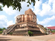 Pagode in Wat Chedi Luang, Thailand Stock Foto's