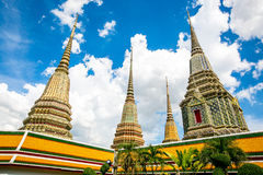 Pagode an wat pho in Bangkok stockfoto
