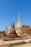 Pagode an wat Phra-sri sanphet Tempel Lizenzfreie Stockfotografie