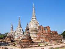 Pagode an wat Phra-sri sanphet Tempel Lizenzfreies Stockfoto