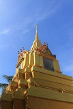 Pagode in Wat satue Royalty-vrije Stock Foto