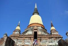 Pagode Wat Yai Chaimongkol Royalty-vrije Stock Foto