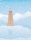 Pagode - Winter Stockfoto