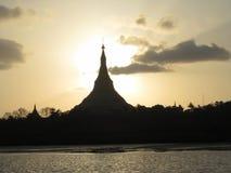 Pagodekoepel bij zonsondergang Royalty-vrije Stock Foto