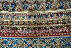 Pagoden är i Wat Pho Bangkok Thailand Fotografering för Bildbyråer