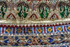 Pagoden är i Wat Pho Bangkok Thailand Royaltyfri Bild