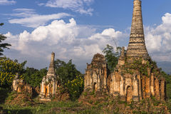 Pagoden auf Myanmar lizenzfreie stockfotos