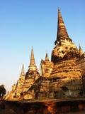 Pagoden av den gamla templet på det Ayuthaya landskapet som är historisk parkerar Thailand Arkivbilder