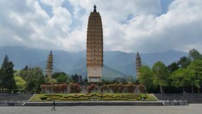 3 pagoden Dali Royalty-vrije Stock Afbeeldingen