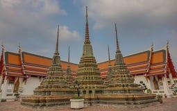 Pagoden in de tempel royalty-vrije stock fotografie