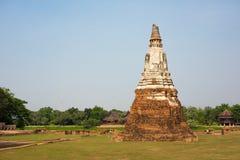 Pagoden i Ayutthaya Arkivfoto