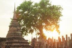 Pagoden och templet fördärvar Royaltyfri Fotografi