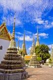 Pagoden van gestorven mensen in Wat Pho stock afbeelding
