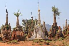 Pagoden von Shwe Indein 5 Stockfotografie