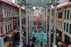 Pagodenstraße, Singapur, Sophouses lizenzfreies stockfoto