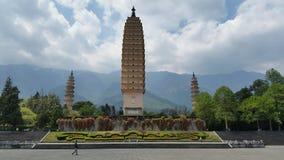 3 pagoder Dali Royaltyfria Bilder