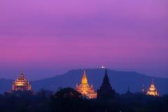Pagoder i Bagan, Myanmar Arkivbilder