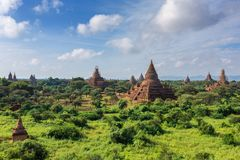 Pagodes antigos em Bagan, Myanmar Foto de Stock