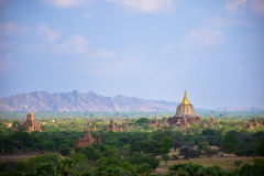 Pagodes antigos em Bagan, Myanmar fotos de stock royalty free