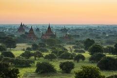 Pagodes de Bagan Foto de Stock