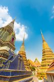 Pagodes do templo de Wat Pho em Banguecoque, Tailândia Foto de Stock Royalty Free