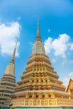 Pagodes do templo de Wat Pho em Banguecoque, Tailândia Imagem de Stock Royalty Free