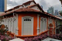 Pagodgata, Singapore, Sophouses arkivbilder