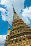 Pagodowa architektura, Wat Pho, Tajlandia podróż obrazy stock