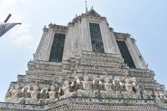 Pagodowy wata arun Bangkok Tajlandia, jeden najwięcej sławnej świątyni w Thialand obrazy royalty free