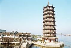 pagodowy Zhouzhuang Obraz Royalty Free