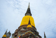 PagodtempelAyutthaya Thailand lopp Arkivfoton