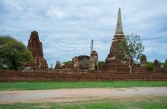 PagodtempelAyutthaya Thailand lopp Fotografering för Bildbyråer