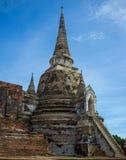 PagodtempelAyutthaya Thailand lopp Royaltyfri Foto