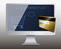 Pagos con tarjeta de crédito en comercio electrónico Imagenes de archivo