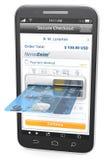 Pagos móviles Imagen de archivo libre de regalías