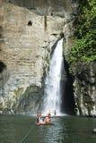 PagsaÅ ‹Jan spadków rzeczna wycieczka Laguna Philippines fotografia stock