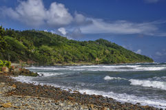 The Pagua bay on Dominica. Island, Lesser Antilles stock images