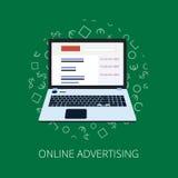 Pague por modelo de la publicidad de Internet del tecleo cuando se hace clic el anuncio ilustración del vector