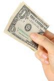 Pague um U S 1 dólar de conta Imagem de Stock Royalty Free