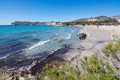 Paguera spring beach stock images