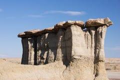 Pah pustkowia nauki teren, Nowy - Mexico, usa Obrazy Stock