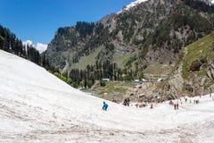 Pahalgam, turismo de Jammu e Caxemira, Índia Fotografia de Stock Royalty Free