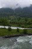 Pahalgamlandschap in moesson royalty-vrije stock afbeeldingen