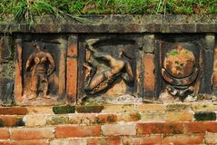 Paharpur Bihar Archeological sites in Bangladesh. Somapura Mahavihara known as Paharpur Bihar or Paharpur Vihara in UNESCO cultural heritage site in Bangladesh Stock Photos
