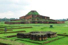 Paharpur Bihar Archeological sites in Bangladesh. Somapura Mahavihara known as Paharpur Bihar or Paharpur Vihara in UNESCO cultural heritage site in Bangladesh Stock Images
