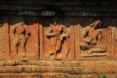 Paharpur Bihar Archeological sites in Bangladesh. Somapura Mahavihara known as Paharpur Bihar or Paharpur Vihara in UNESCO cultural heritage site in Bangladesh Stock Image