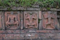 Paharpur Bihar arkeologiska platser i Bangladesh royaltyfri foto