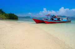 Pahawang strand, Lampung Indonesien Royaltyfri Bild