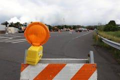 Pahoa, Hawai, Stati Uniti, il 5 giugno 2018: A causa di un'eruzione vulcanica della strada chiusa di Kilauea del vulcano in Pahoa Fotografie Stock